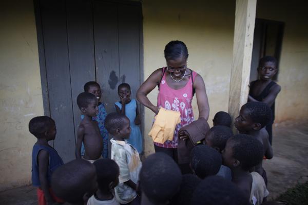 Akosua and kids uniforms