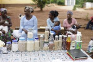 Food items at Malnourished Centre Children